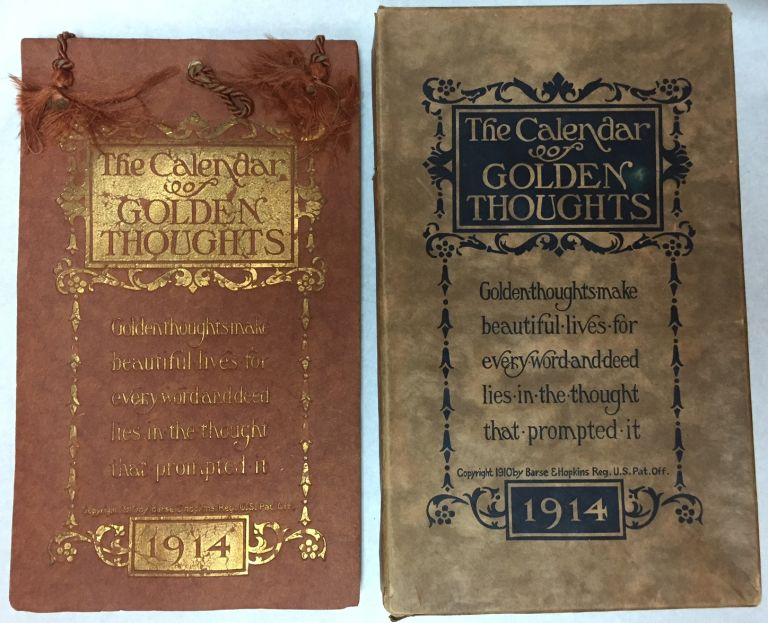 The Calendar of Golden Thoughts - 1914. Barse, Hopkins.