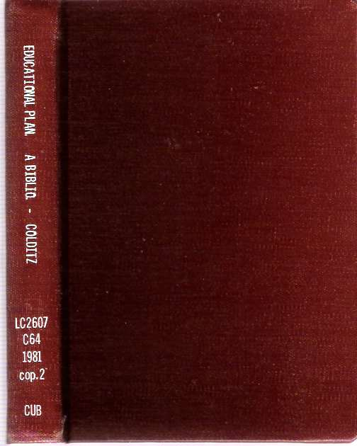Educational Planning : A bibliography with special emphasis on developing countries. J. M. Colditz, B J. Du Plessis, Comp.