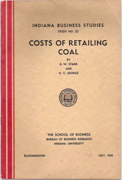 Costs of Retailing Coal. George Washington Starr, Henry Clay George.