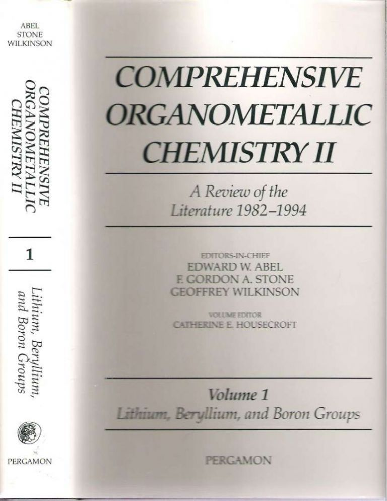 Volume 1 Lithium, Beryllium and Boron Groups. Catherine E. Housecroft.