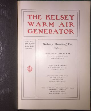 Kelsey Warm Air Generator [cover title: Opinions About The Kelsey Warm Air Generator]