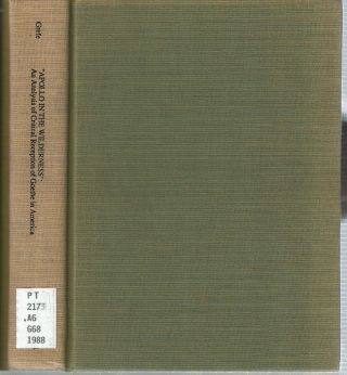 Apollo In The Wilderness : An Analysis of Critical Reception of Goethe in America 1806-1840....