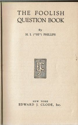 The Foolish Question Book