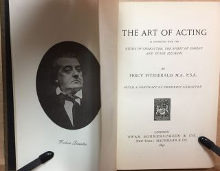 The Art of Acting : in connection with the Study of Character, the Spirit of Comedy and Stage Illusion
