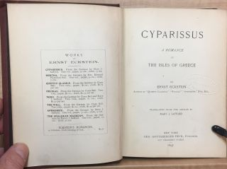 Cyparissus : A romance of the isles of Greece
