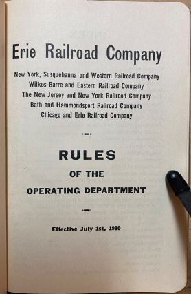 Rules of the Operating Department : Effective July 1st, 1930