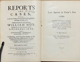 Law Sports At Gray's Inn (1594) : Including Shakespeare's connection with the Inn's of Court, the origin of the Capias Utlegatum re Coke and Bacon, Francis Bacon's connection with Warwickshire, together with a reprint of the Gesta Grayorum
