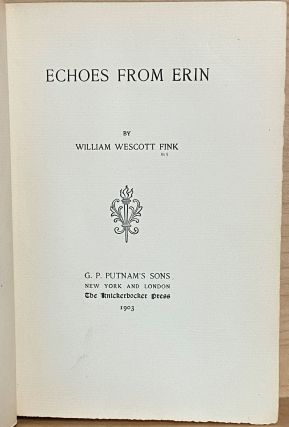 Echoes from Erin [Poems]