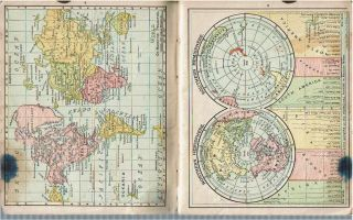 New Concise Atlas of the World : Containing Colored Maps of all the States and Territories in the United States and the Provinces of the Dominion of Canada, also Full Page Maps of Every Country and Civil Division upon the Face of the Globe