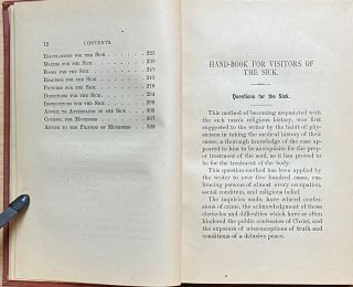 Hand-Book for Visitors of the Sick : For the use of Ministers, Missionaries, Lay-Workers, Attendants and Friends of the Sick