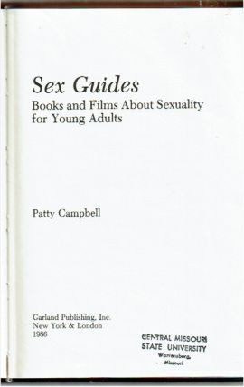 Sex Guides : Books and Films About Sexuality for Young Adults