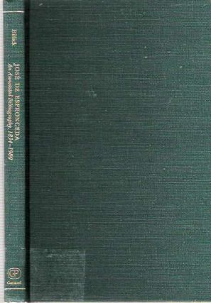 José De Espronceda : An Annotated Bibliography 1834-1980 [Jose]. David J. Billick, Comp