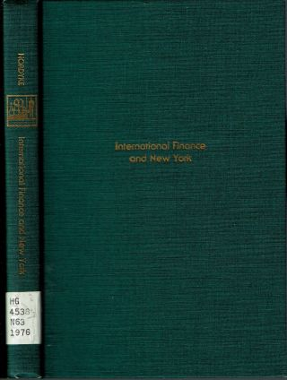 International Finance and New York. James W. Nordyke