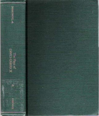 The Plays of David Garrick : Volume IV. David Garrick, edited, Gerald M. Berkowitz