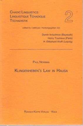 Klingenheben's Law in Hausa. Paul Newman