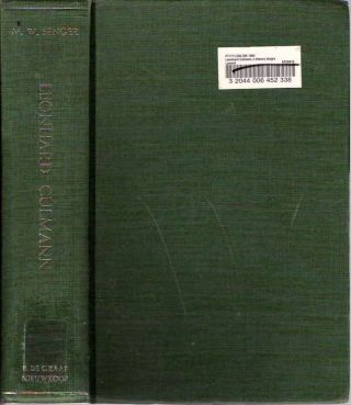 Leonhard Culmann : A Literary Biography and an Edition of Five Plays : As a Contribution to the...