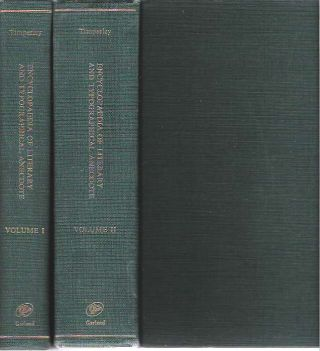 Encyclopaedia of Literary and Typographical Anecdote : In two volumes: Volume I and Volume II....